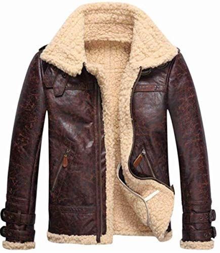 online shopping for Vintage Mens Leather Lambs Fur Fleece Bomber Flight Winter Coats Jacket 2018 from top store. See new offer for Vintage Mens Leather Lambs Fur Fleece Bomber Flight Winter Coats Jacket 2018
