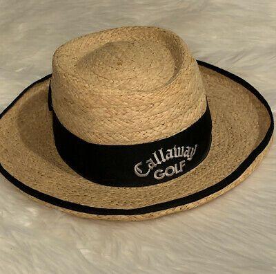 Vintage Biltmore Callaway Golf Straw Hat Women S Size L Xl Sun Leisure Black Bow Ebay Black Bow Ebay Shopping Straw Hat