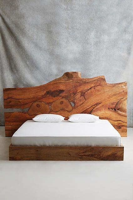 Live Edge Wood King Bed l Coastal Beds & Baths l www.DreamBuildersOBX.com