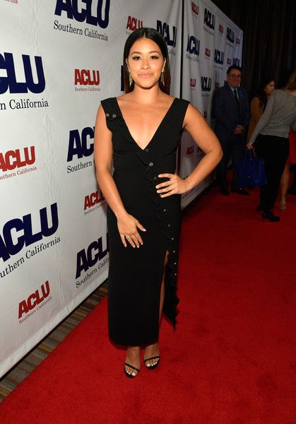 Honoree Gina Rodriguez attends as ACLU SoCal Hosts the Annual Bill of Rights Dinner at the Beverly Wilshire Four Seasons Hotel.