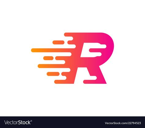 Speed Letter R Logo Icon Design Royalty Free Vector Image