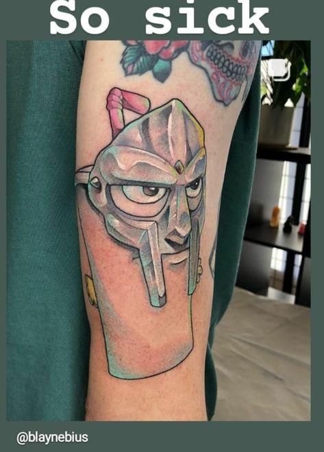 MF DOOM / DANGERDOOM arm tattoo