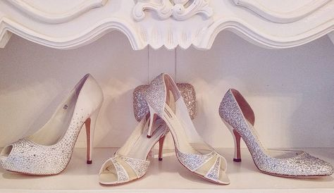 Super Sparkly Benjamin Adams Wedding Shoes Wedding Dresses