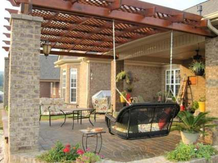 Backyard Pergola Attached To House How To Build 55 Ideas House