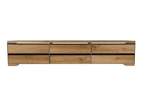 Designer Sideboard Rohstahl Und Eiche Sideboard Metall Holz