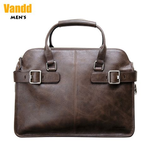 """Aliexpress.com : Buy Vandd Men's Brown Adjustable Capacity Briefcase 14"""" Laptop Business Document Tote Handbag Messenger Bag Free Fast Shipping from Reliable messenger tote suppliers on Vandd Men. $333.00"""