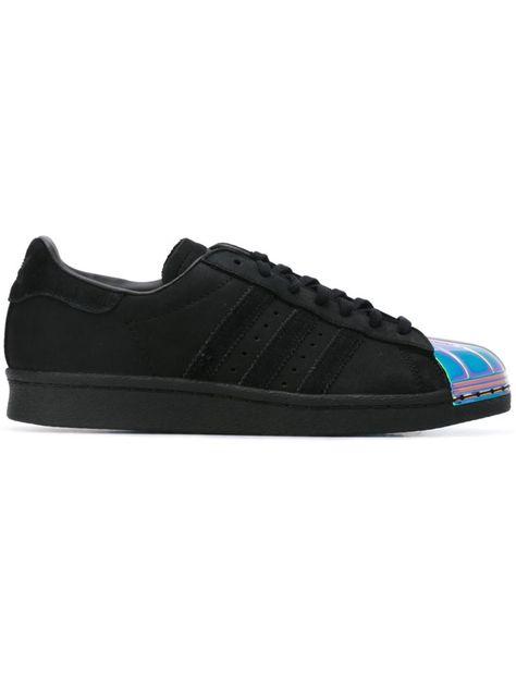 check out cc907 5dbef Adidas Originals Zapatillas superstar 80s. Zapatillas Superstar 80s en piel  negras de Adidas con puntera redonda, cierre con cordones en la parte  delantera, ...