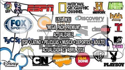 Lista M3u Mega Pack Premium Actualizable Esp Latino Peliculas Musica Deportes Adulto Actualizada 17 Abril Mega Pack Señal De Television Peliculas