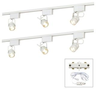 Great Lighting For The Studio And Comes With A Plug Adaptor Kit Includes Two 4 Foot Length Track Lighting Kits Contemporary Track Lighting