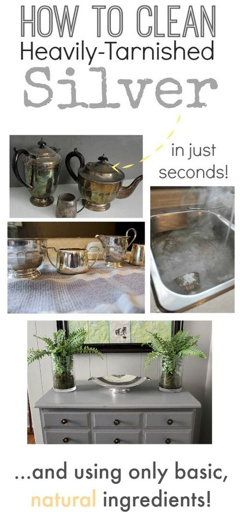 Clean your really tarnished silver quickly and easily with this awesome trick! This is so good!