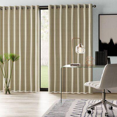 Mercury Row Brashear Solid Room Darkening Thermal Grommet Single