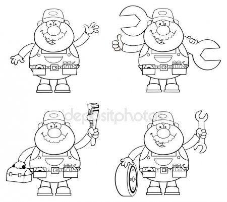 Ilustracion De Dibujos Animados De La Mecanica Dibujos Animados Ilustracion De Dibujos Animados Dibujos