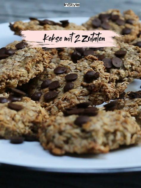 Es gibt sie: Leckere und gesunde Kekse, für die du nur 2 Zutaten brauchst. Erfahre mehr im Link in Bio. #instyle #instylegermany #kekse #plätzchen #weihnachten #backen #cookies #plaetzchen #dessert #haferflocken