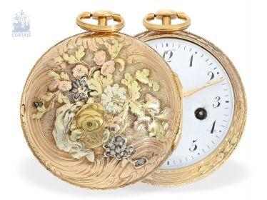 f6f09666832b Карманные часы  редкие 4-цветов-броскость-карманные часы с  Мэсси-торможение, главный шведских часовщиков, Августин Bourdillon Стокгольм  (1729-1799)