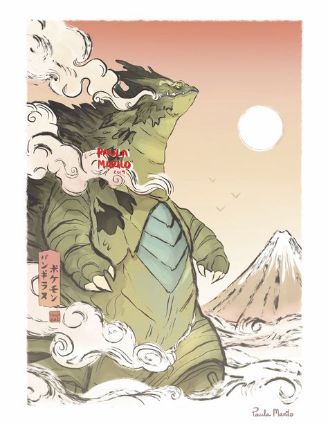 Tyranitar - Japanese-Styled Print sold by Paula Marilo. Shop more products from Paula Marilo on Storenvy, the home of independent small businesses all over the world. Pokemon Tattoo, O Pokemon, Pokemon Cards, Pokemon Fusion, Pokemon Images, Pokemon Pictures, Tyranitar Pokemon, Photo Pokémon, Manga Anime