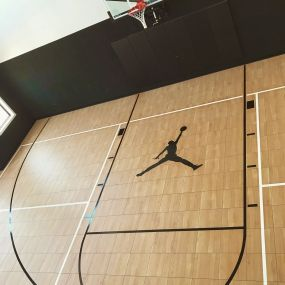 30 X 45 Indoor Multi Court With Maple Xl In St George Ut In 2021 Backyard Court Backyard At Home Gym