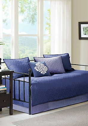 Quebec 6 Piece Daybed Set Navy Daybed Sets Daybed Comforter Sets Home Decor Bedroom