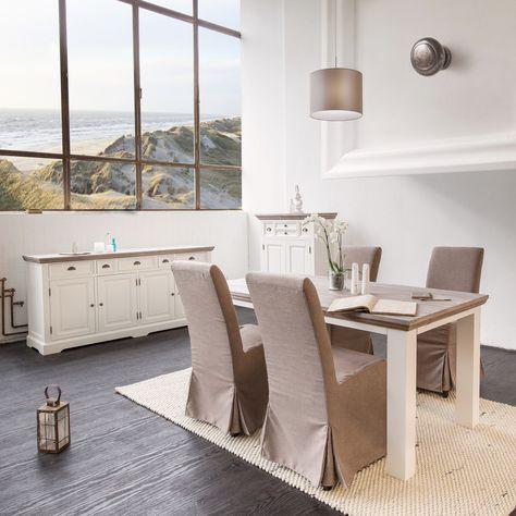 Long Beach Esstisch Aus Pinienholz, Furniture Long Beach