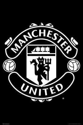 Poster Manchester United Crest Black Soccer Football Man Utd Crest Manchester United Logo Manchester United