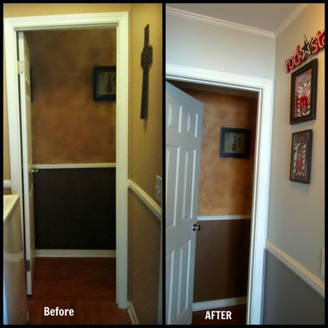 Before and After Silver Pointe and Pewter Cast Sherwin Williams www.maverickpaintingsandiego.com