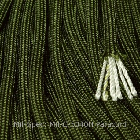 Mil Spec 550 Paracord Camo Green Type Iii Mil C 5040h Made In
