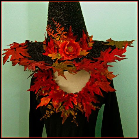 Victorian Trading Co Poison Ivy Green Velvet /& Satin Floral Witch Hat 1A