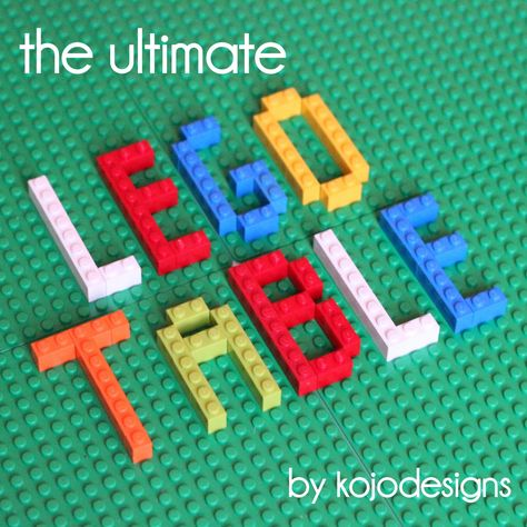 how to DIY the ultimate lego table
