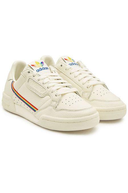 Adidas Originals - Continental 80 Pride Leather Sneakers ...