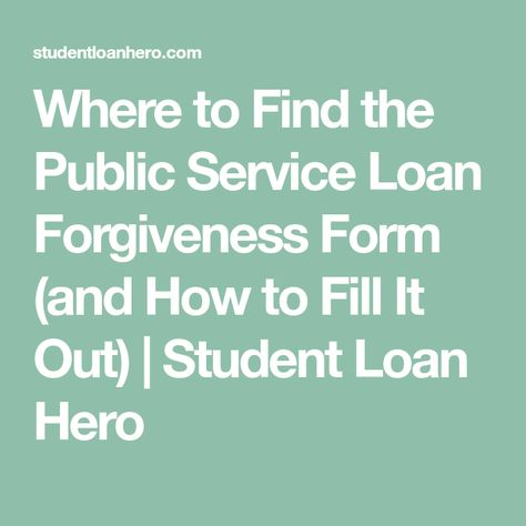 Public Service Loan Forgiveness Pslf Program Is The Most