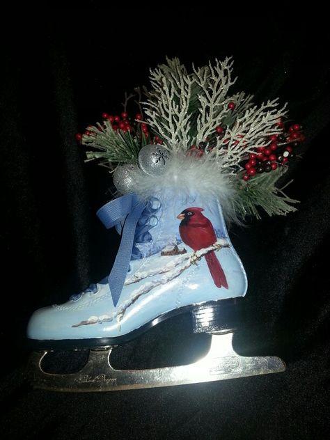 320 Painted Skates Ideas Painted Ice Skates Christmas Ice Skates Ice Skating