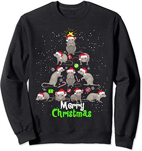 Best Seller Rat Santa Christmas Tree Design Xmas New Year Celebration Sweatshirt Online Looknewfashion New Year Celebration Christmas Tree Design Tree Designs