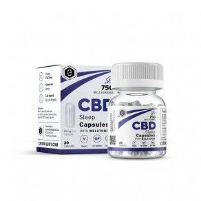 Essential #CBD Sleep Capsules with Melatonin 25mg 30 Count