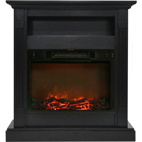Cambridge Sienna 34 In Electric Fireplace With 1500 Watt Log