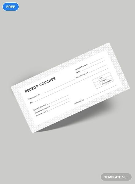 Receipt Voucher Template Free Pdf Word Psd Apple Pages Illustrator Publisher Voucher Design Receipt Template Invoice Design