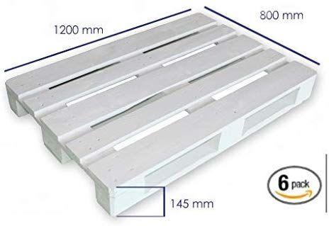 Dydaya 6 Palets Europeos Blancos De 80x120 De Madera Lijados Y Pintados De Blanco Para Muebles De Palets Venta De P Muebles Con Palets Palets Europeos Palets