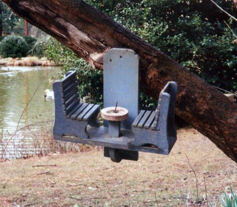 Chair and stump Corncob Squirrel Feeder