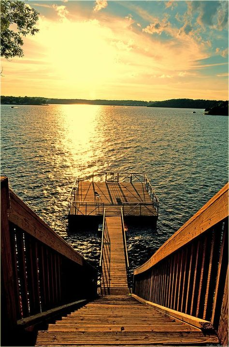 This looks so beautiful and peaceful! I could spend a week or more just lounging on that boat dock. If I ever had a lake house.