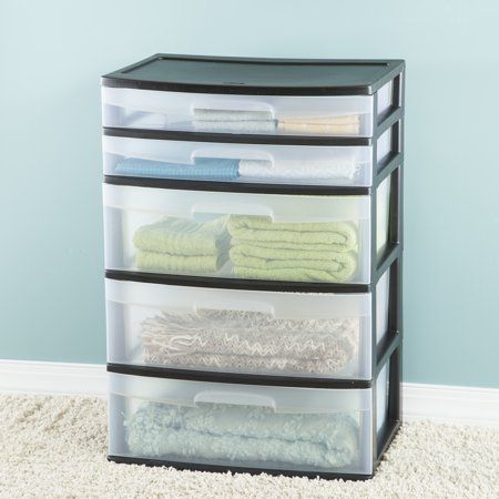 Home Storage Cart With Drawers Sterilite Freestanding Storage