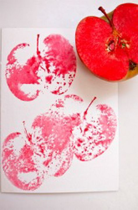 Would be cute for September apple tree...apple tree handprint and then apple prints on top.