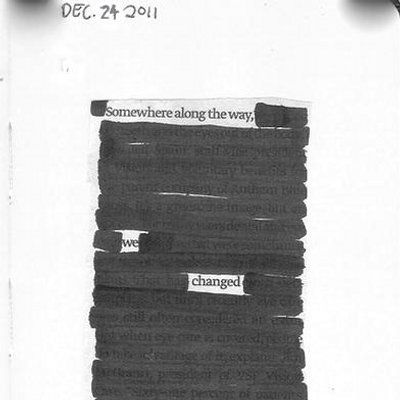"""somewhere along the way, we changed"" [blackout poetry] Mood Quotes, Poetry Quotes, Life Quotes, Pain Quotes, Quotes Quotes, Blackout Poetry, Pretty Words, Beautiful Words, Beautiful Mess"