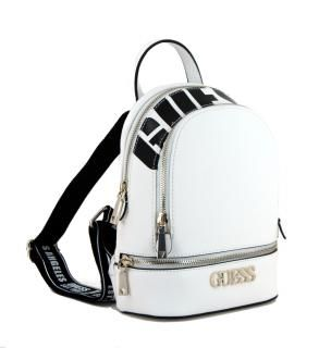 GUESS RUCKSACK TASCHE Backpack Schwarz Grau Klassisch Black