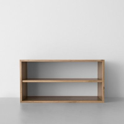 Two Shelf Horizontal Cube Natural Made By Design Shelves Cube