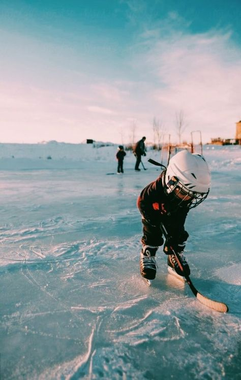 Stock photo of A little toddler skates on a frozen pond with a hockey stick by rileyjb Cute Family, Family Goals, Family Life, Little Babies, Cute Babies, Baby Kids, Foto Baby, Cute Baby Pictures, Baby Outfits