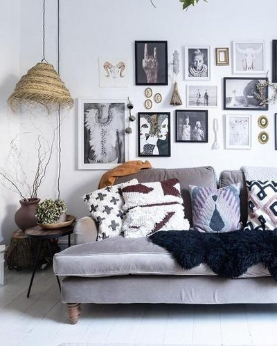 Boho Rustic Living Room With Gorgeous Gallery Wall Via Reddit Rustic Living Room Home Decor Decor