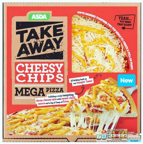 Asda Take Away Cheese Chips Mega Pizza W French Fries On