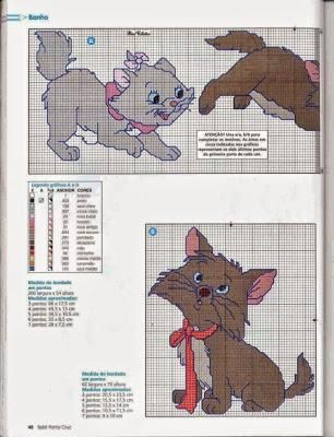 Marie-Aristocat Counted Cross Stitch Kit Disney Film characters