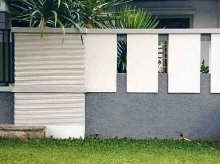 Exterior Cladding Ideas Stones 21 New Ideas Compound Wall Design Modern Garage Doors House Paint Exterior