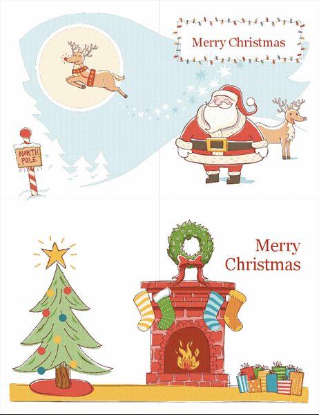 Printable Print Your Own Christmas Cards Templates In 2021 Christmas Card Templates Free Christmas Card Template Merry Christmas Card