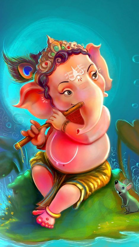 Masked Guy Iphone Wallpaper Ganesha Pictures Lord Ganesha Paintings Lord Krishna Wallpapers