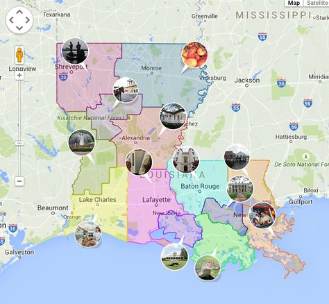 Discover Everything About Louisiana With This Interactive Map